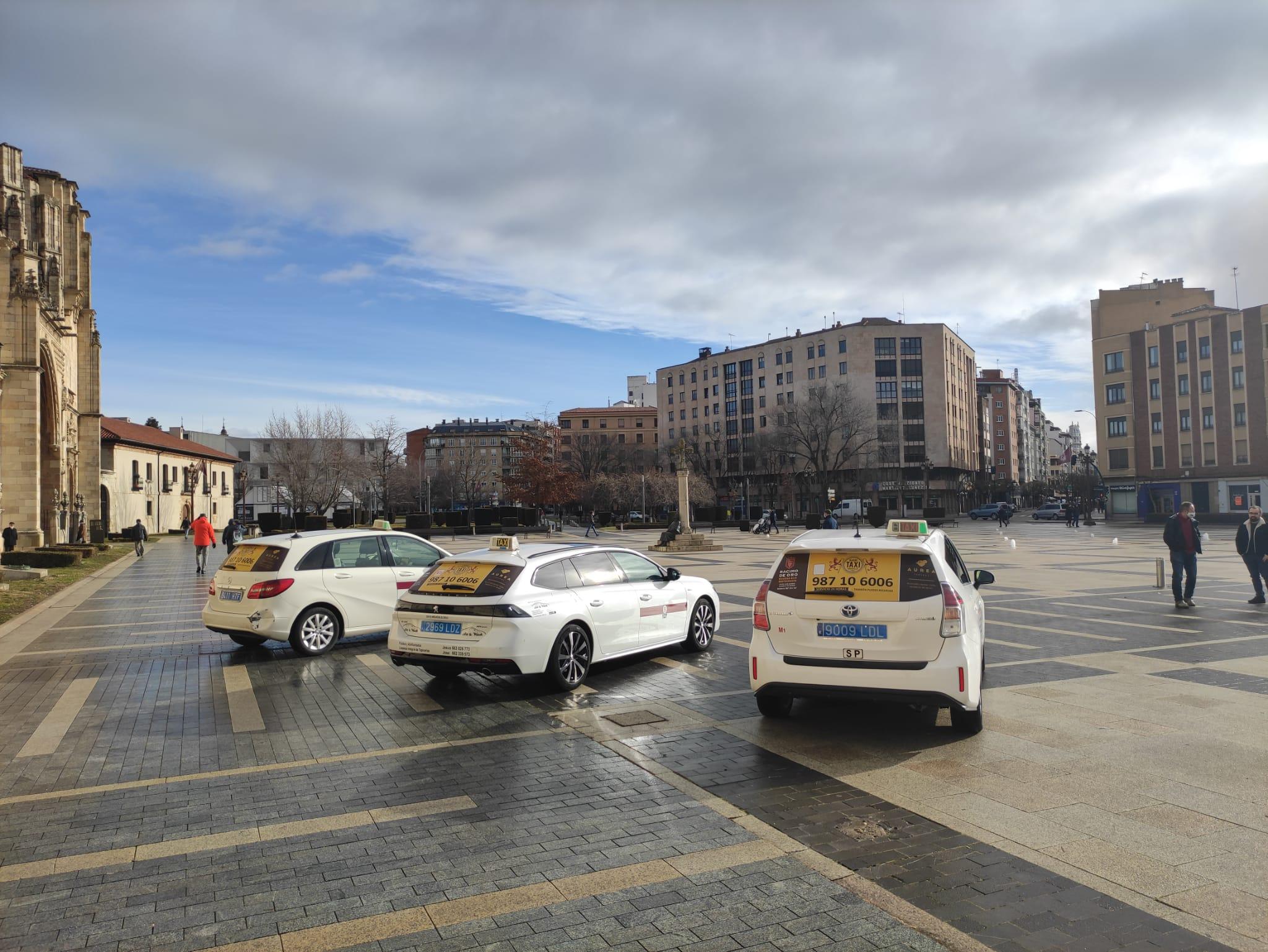 taxis publicidad amarillos León